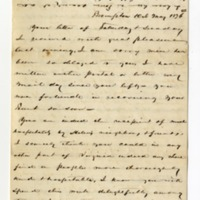 Letter from John Green Lane to Helen Berry Lane, May 10, 1876